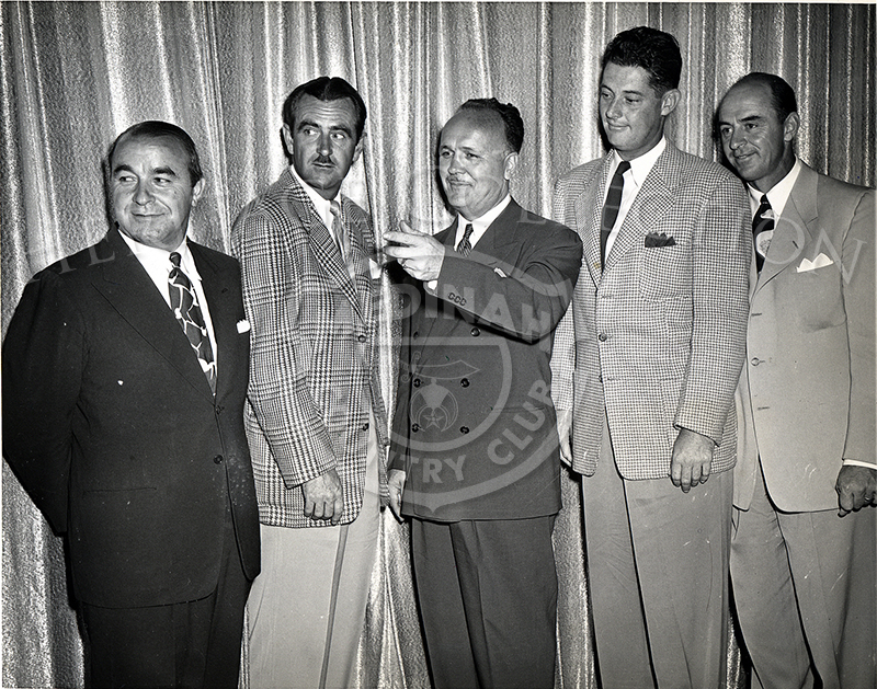 Original Acme Photo caption from June 8, 1949 read:  GOLF BIG WHEELS - CHICAGO:
