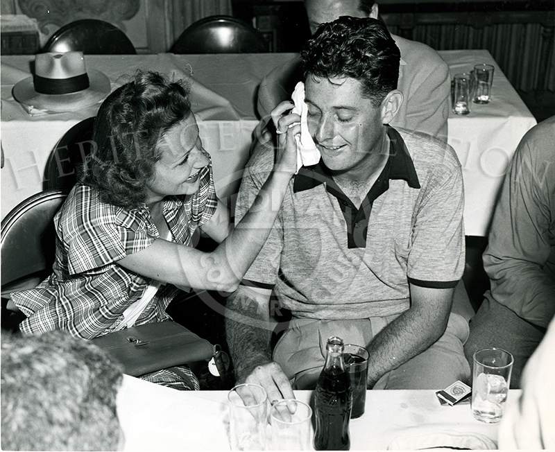 Dr. Cary Middlecoff and wife Edith after the 49th U.S.Open. The tournament was played June 9-11, 1949 on Medinah's Course No. 3.