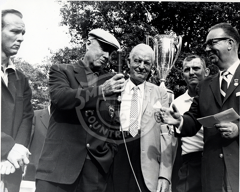 Pictured are, left to right, Chick Evans, Cecil Sowles, Jack Cupit, Fritz Souder.