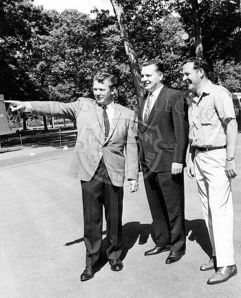 From 1962, left to right, Medinah Golf Pro Jack Bell, Don Zinty and Gerald Dearie.
