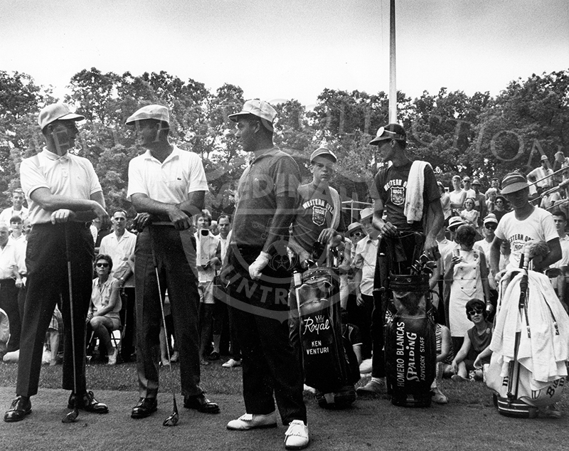 Posed together during the 63rd Western Open are, left to right, Billy Casper, Ken Venturi and Homero Blancas.