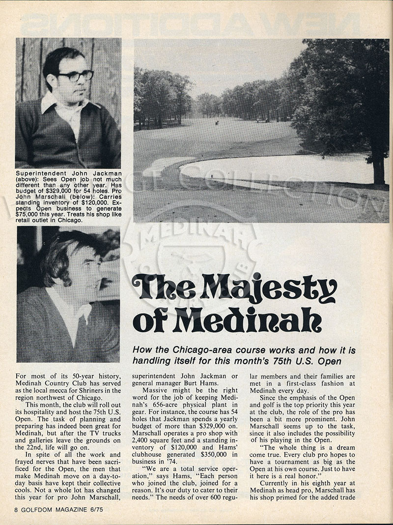 Golfdom magazine from June 1975 featured an article on the
