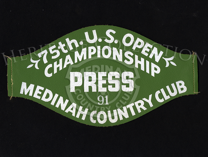 75th U.S. Open Press armband press credentials.