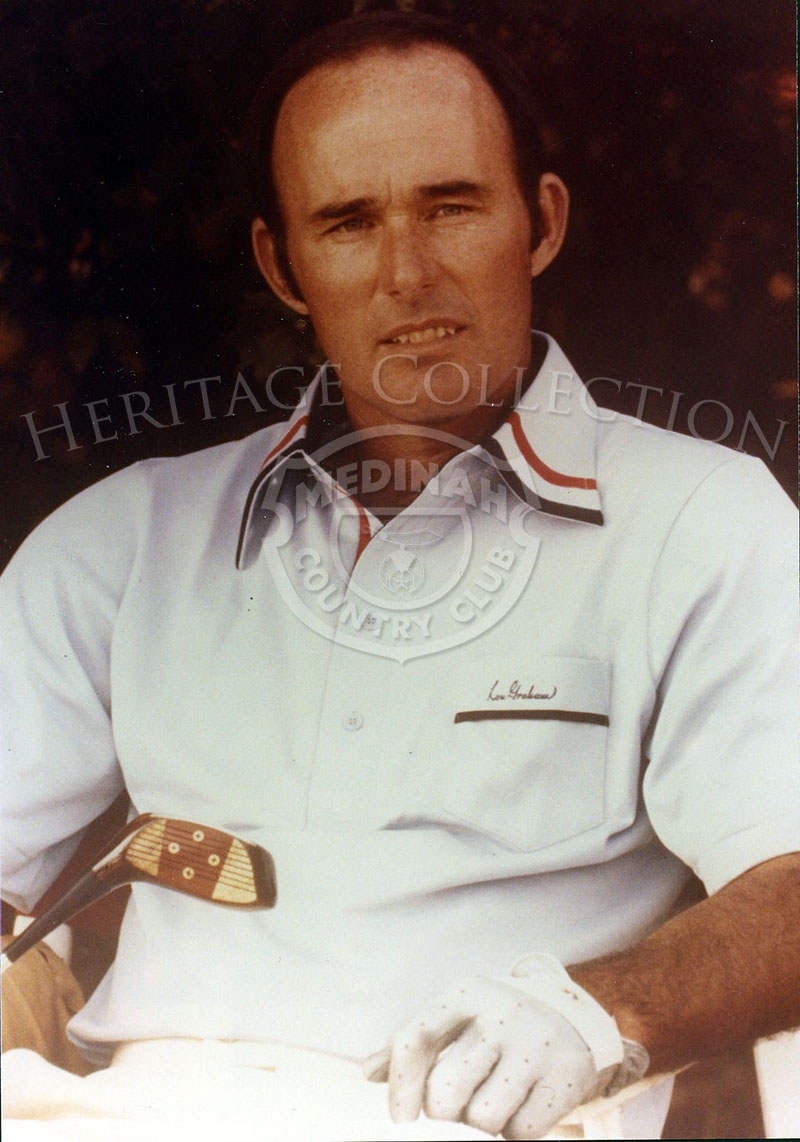 Portrait photo of Lou Graham from 1975, after winning the 75th U.S. Open Championship at Medinah Country Club.