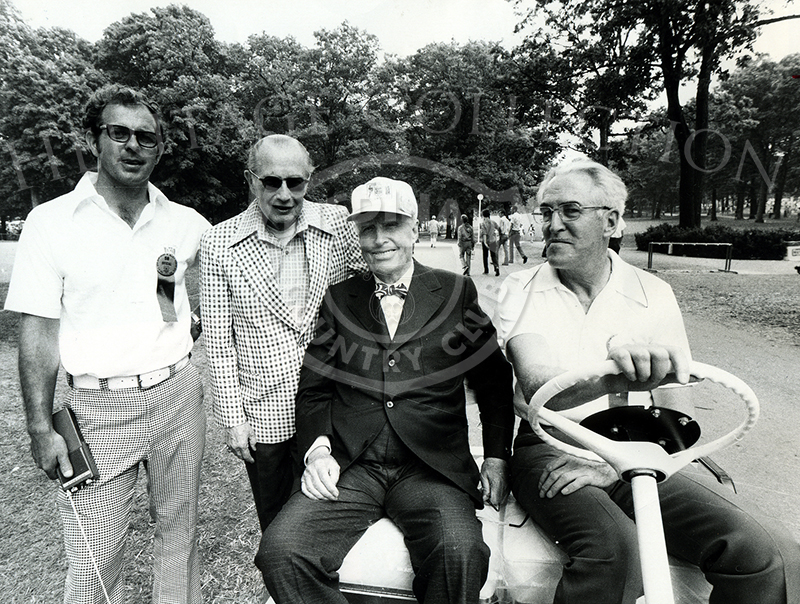 Chick Evans, third from left, attended the 75th U.S. Open at Medinah Country Club in June, 1975.