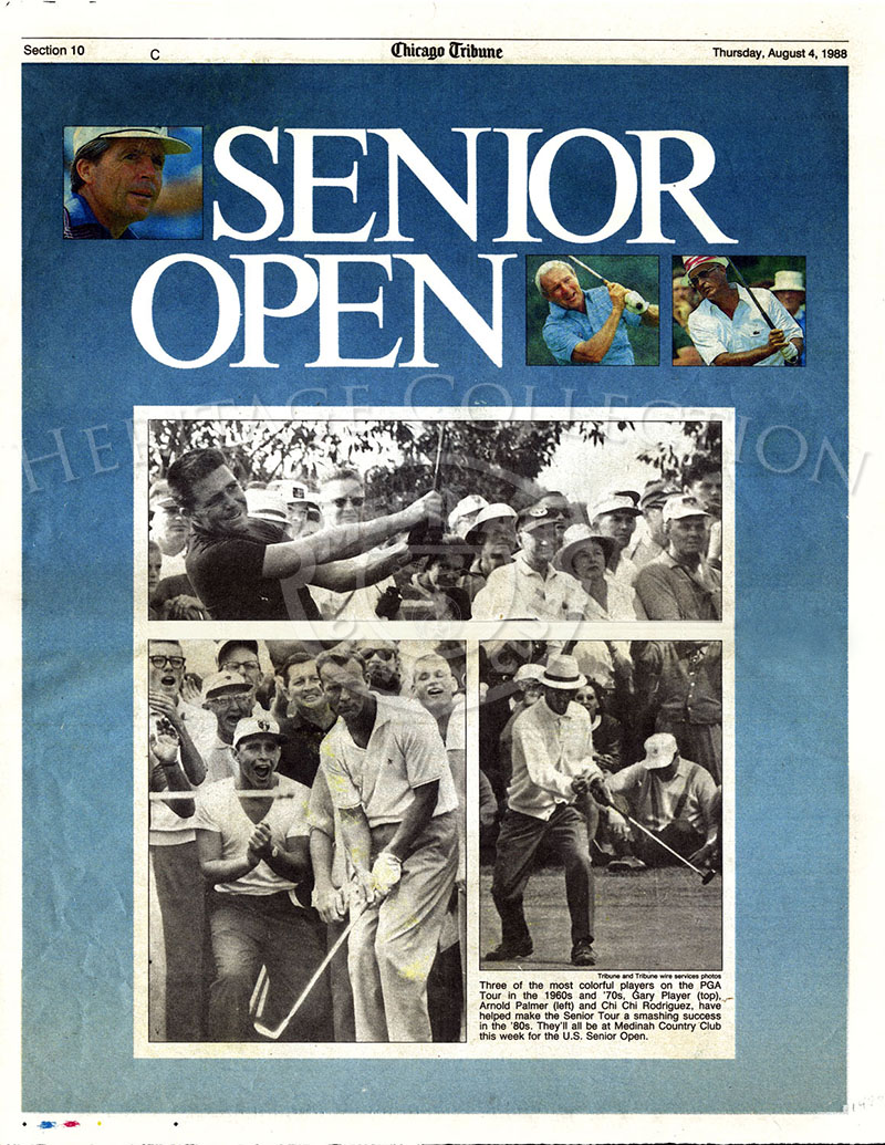 Chicago Tribune section 10. US Senior Open. Aug 4, 1988.