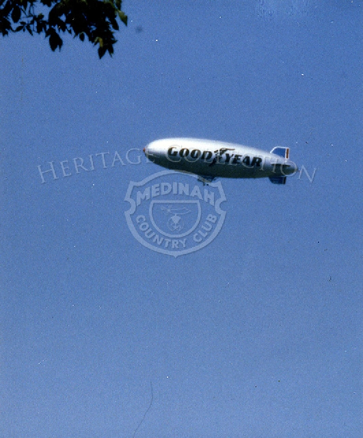 Since 1925, Goodyear blimps have been seen floating in the skies, including overhead during major sporting events, like the Ninth U.S. Senior Open Championship.