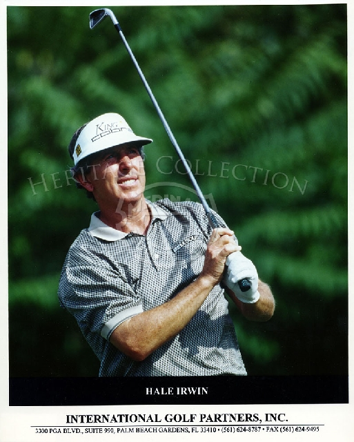 Publicity photo of Hale Irwin issued by International Golf Partners, Inc.
