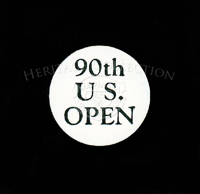 Plastic ball marker was used during the 90th U.S. Open Championship.