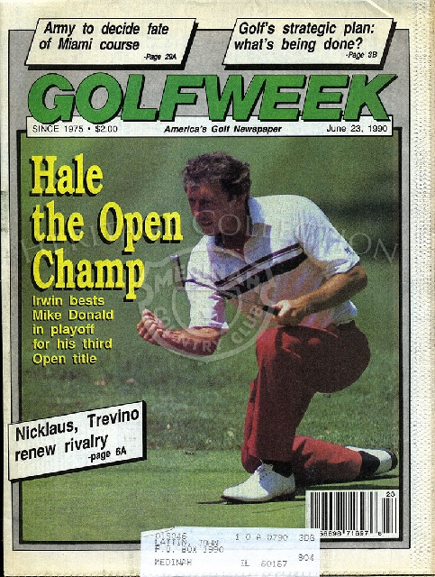 90th U.S. Open June 23, 1990 Golf Week newspaper.