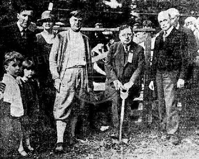 Photograph of Charles Canode groundbreaking ceremony- 9/22/1924