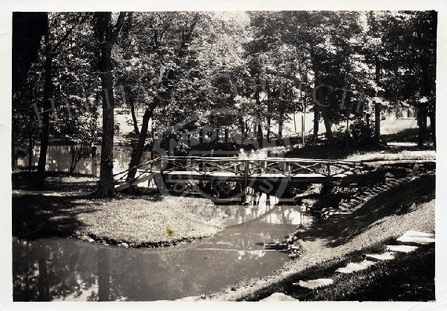 Historical Medinah View of bridge over Meecham Creek.