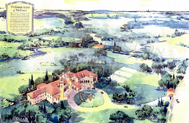 1920s artist conception of proposed Medinah Country Club.