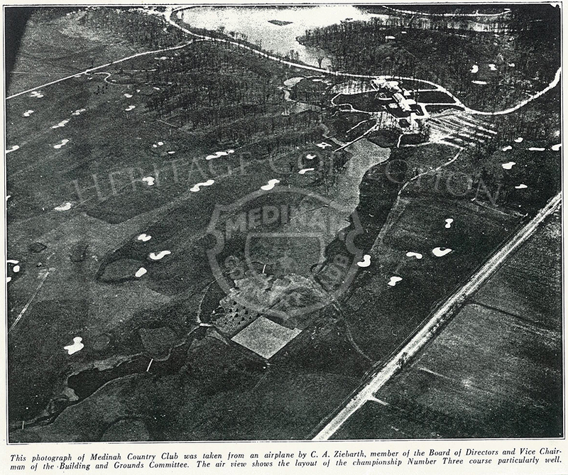Aerial view of Course No. 3.Lake Kadijah in top of photo Nov 1932. Blk/ wht.