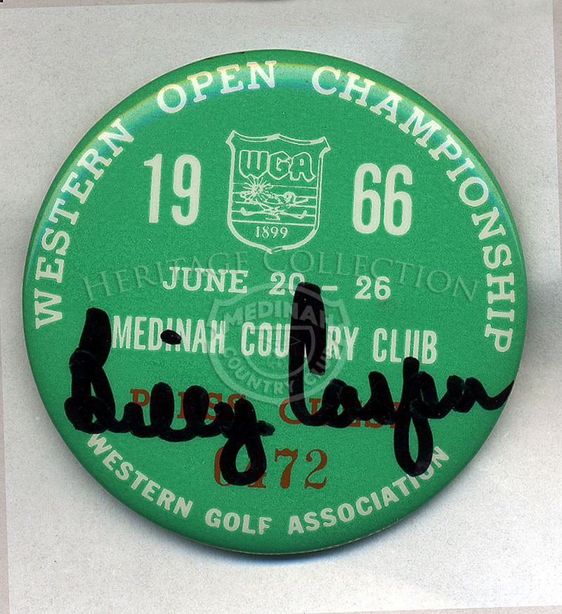 Badge with Billy Casper's signature # 6472