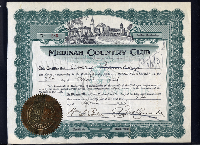 Certificates of Regular Membership from 1925, Number 201-300.
