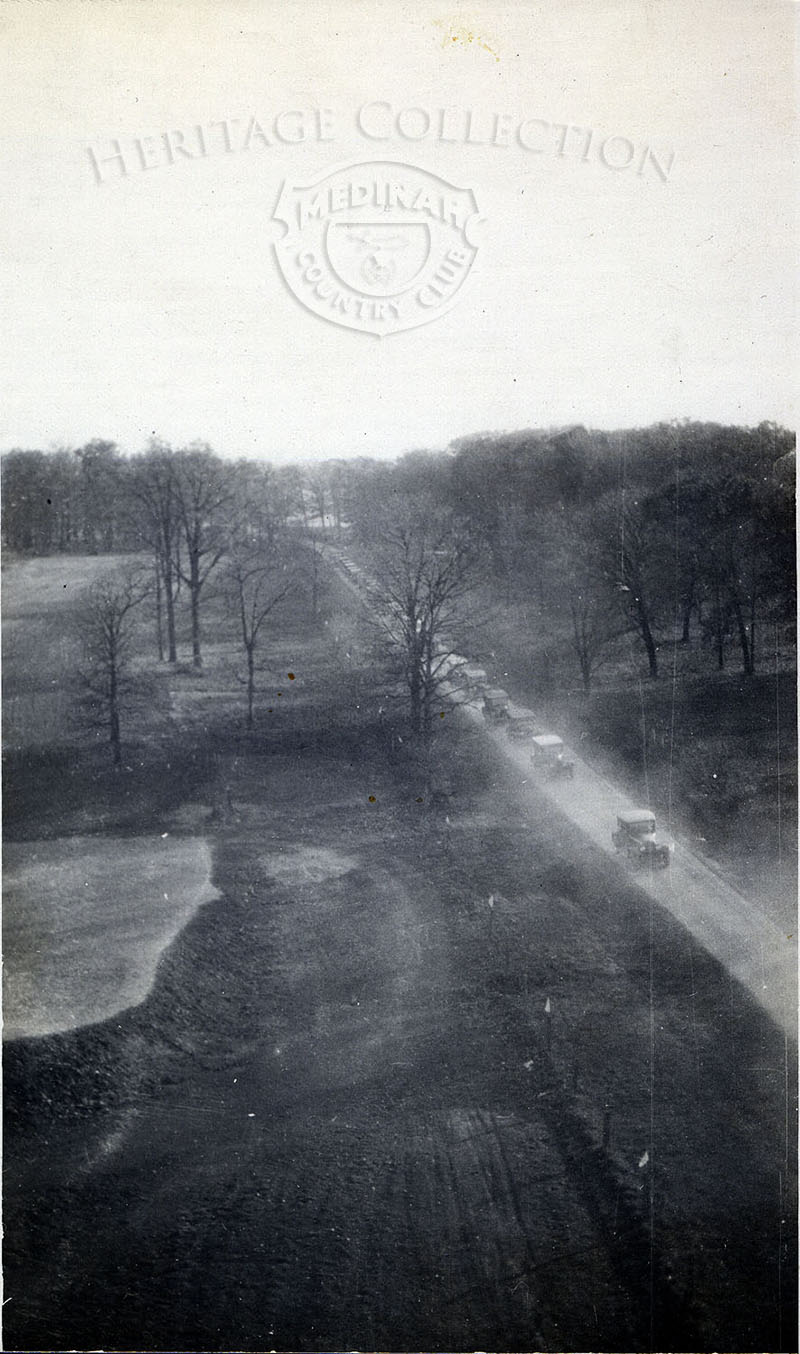 View from the air of Medinah Road in 1924.