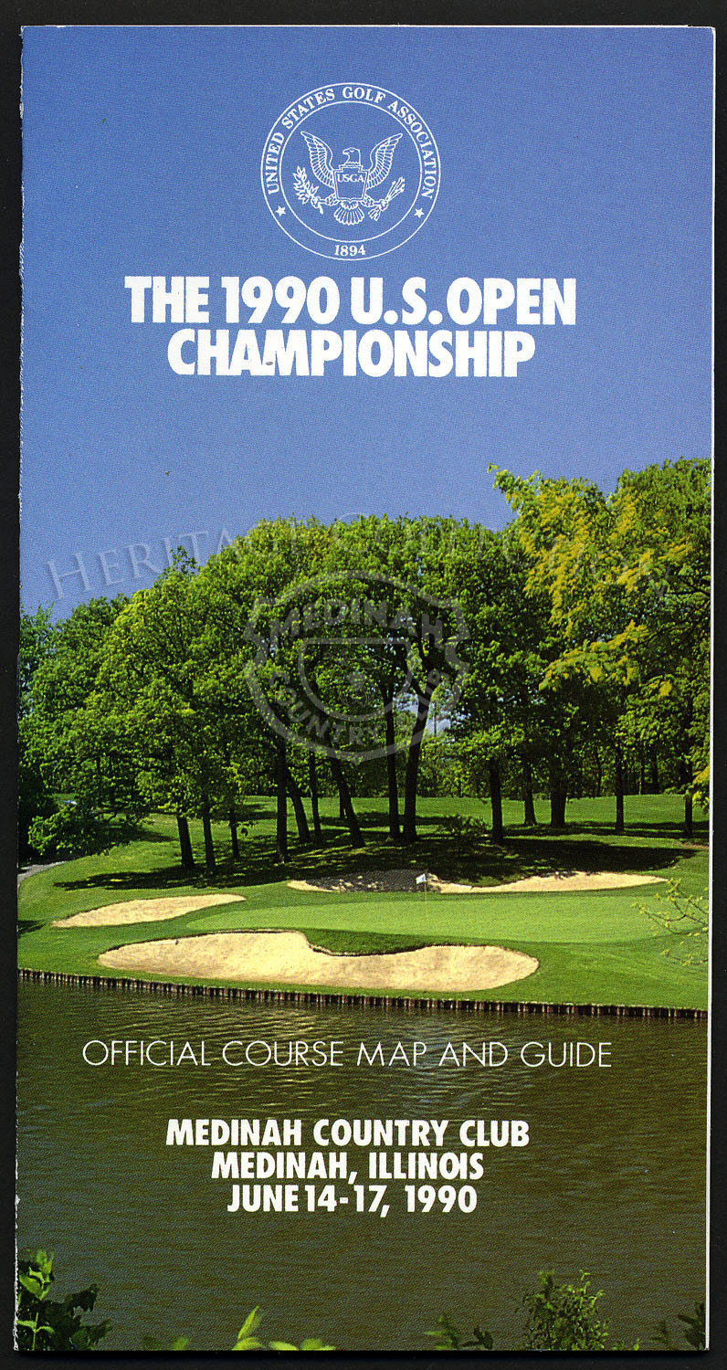 Official course and map guide for the 90th U.S. Open Championship, played June 14-17, 1990.