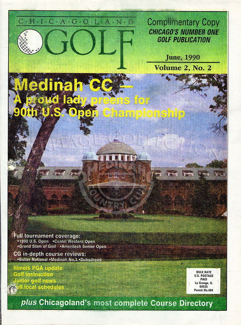 Chicagoland Golf magazine June 1990. MCC on front page.