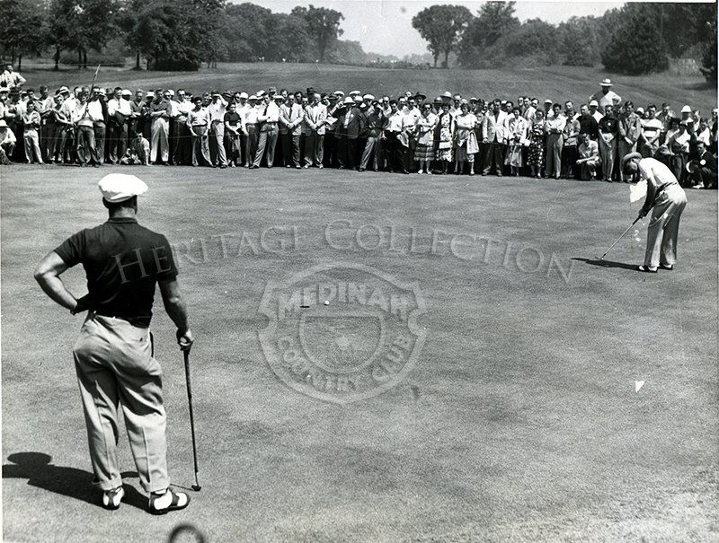 1939 Western Open golfers and spectators.
