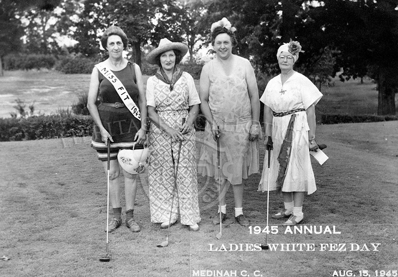 Annual Ladies White Fez Day, held August 15, 1945