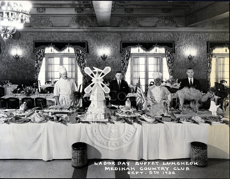 Labor Day Buffet Luncheon at Medinah Country Club, Sept 5th, 1932.