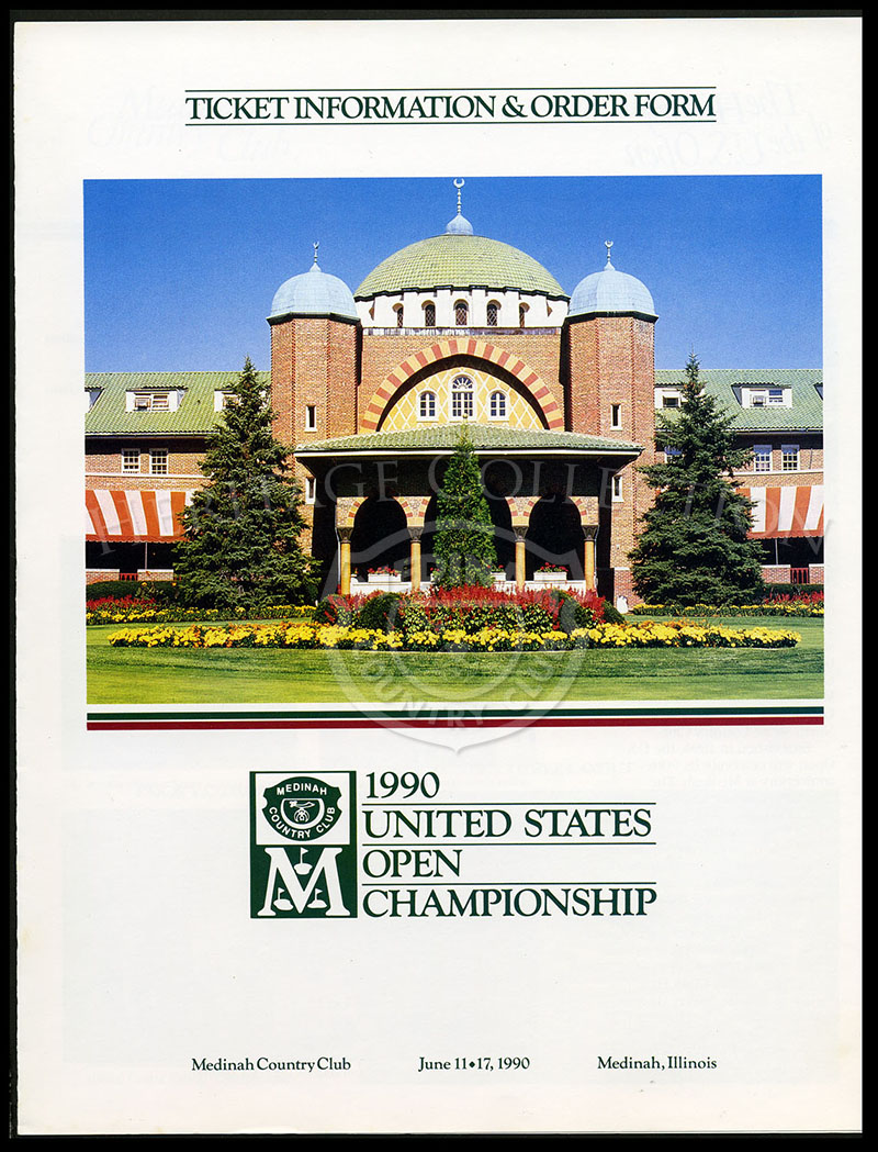 90th U.S. Open - Ticket Information & Order Form-1990