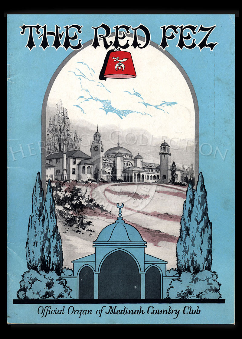 Volume 1 No. 7 February 1925 The Red Fez. Same issue but one starting at page 31 has different content. Also have different front inside and rear covers.