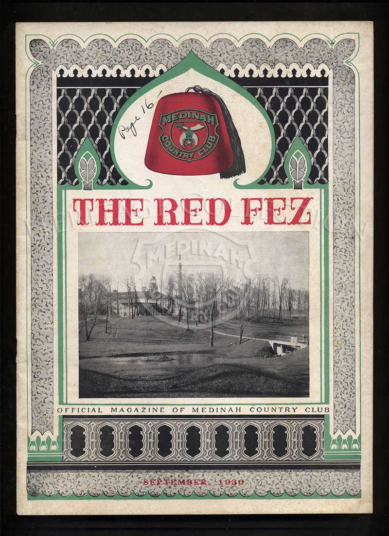 The Red Fez, Volume 6 No.9, September 1930.
