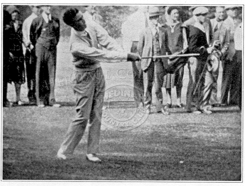 Professional golfer Johnny Farrell shot a 76 during Round 1 and a 72 for Round 2. His total 148 was 6 strokes over par. Two years earlier; Farrell won the U.S. Open after beating Bobby Jones in a 36-hole playoff. He also played for the U.S. in the first t