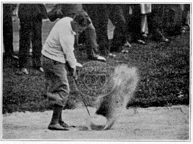 The best amateur player during the Inaugural Medinah Open was George Dawson. His 76-72=148 was six over par, topping Gus Fetz's 78-74= 152 by four strokes. Third place amateur was Al Huske with a 154. This photo appears on page 15 of the October 1930 Th