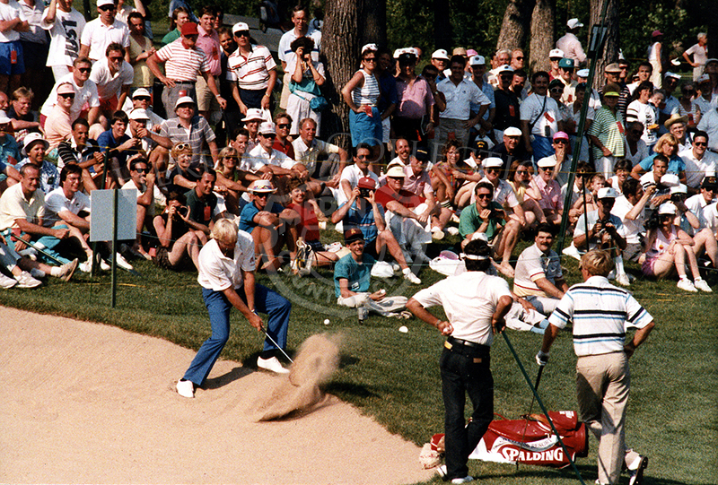 During the Fourth Round of the 90th U.S. Open, Greg Norman was in sole possession of second place, just two behind Mike Donald. Then, Norman began to stumble on the par-five 14th, allowing Hale Irwin to take over second place, and eventually go on to win the tournament. Norman tied for 5th place with Tim Simpson and Mark Brooks.