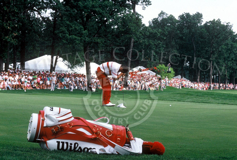 Texan Billy Ray Brown after missing a putt at the 90th U.S. Open. Brown said of that stroke on 18,