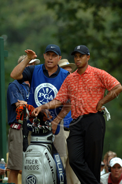 Tiger Woods and Caddy Steve Williams.