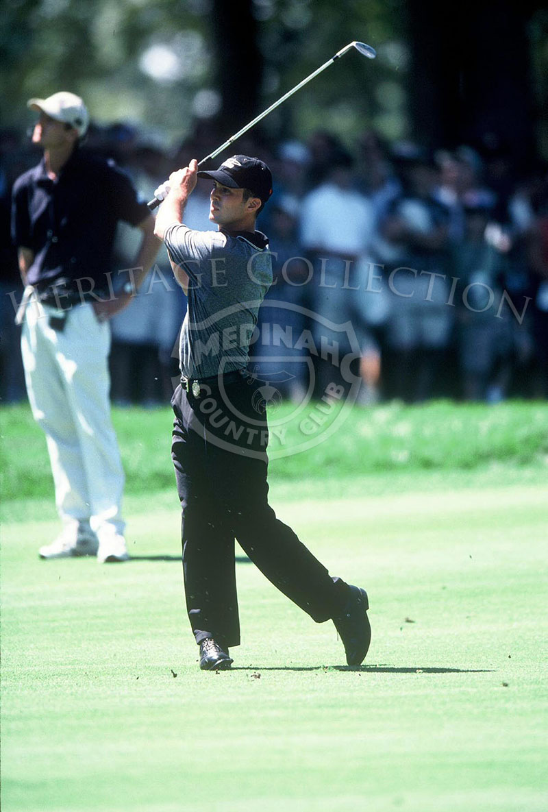 On Sunday, August 15, Mike Weir was paired with Tiger Woods for Round 4 of the 81st PGA championship. Weir finished the tournament with a total 285, which put him in 10th place, tying with Miguel Angel Jimenez, Jesper Parnevik, Chris Perry, Corey Pavin and David Duval.