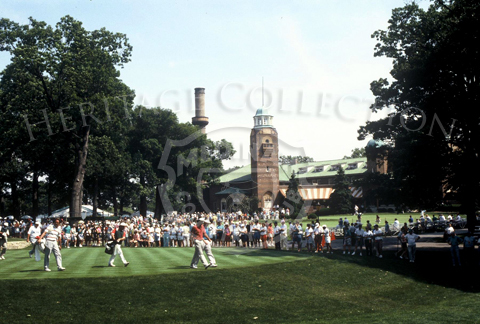 Medinah's magnificent clubhouse, seen in the background, welcomed her visitors during the 90th U.S. Open Championship.