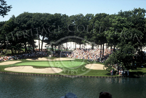 View of the 13th Green of Course No. 3 at Medinah Country Club during the 90th U.S. Open Championship.
