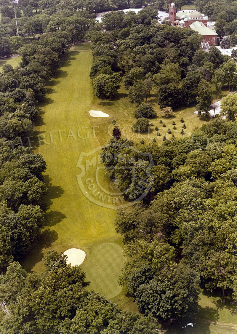 1975 Aerial view of Hole 1 of Course No. 3.