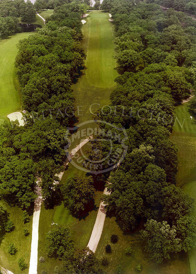1975 Aerial view of Hole 4 of Course # 3.