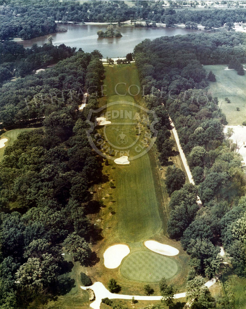1975 Aerial view of Hole 5 of Course No. 3. This 527-yard par-5 fifth is the first