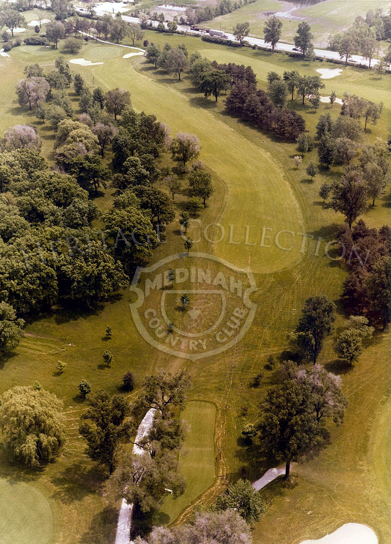 1975 Aerial view of Hole 9 of Course No. 3.