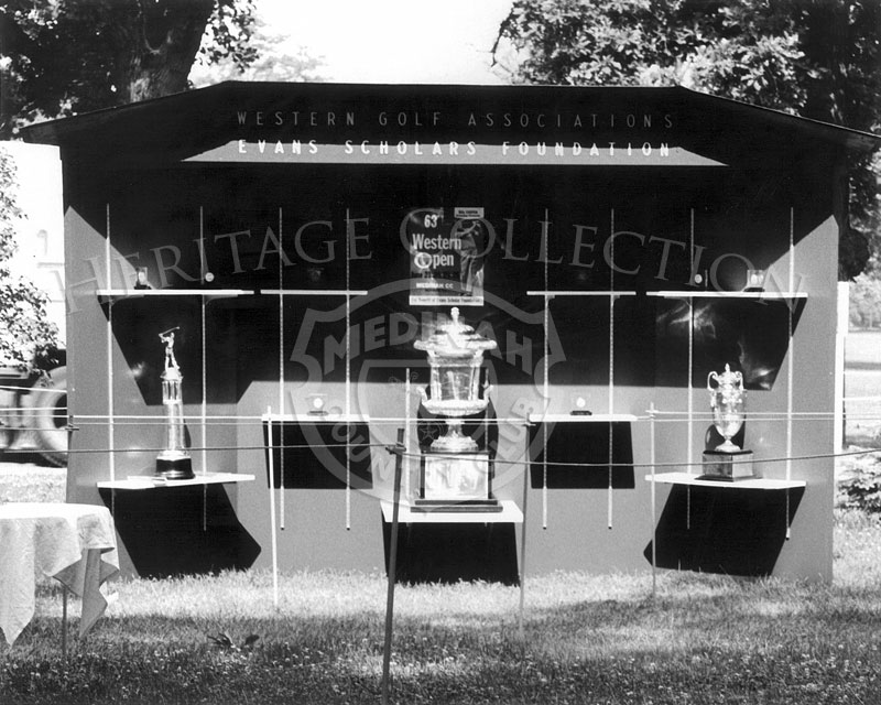 Western Golf Association trophy showcase.