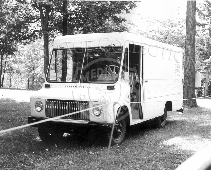 Several International Metro vans were used during the 63rd Western Open. On the back panel of the van in this photo is printed,