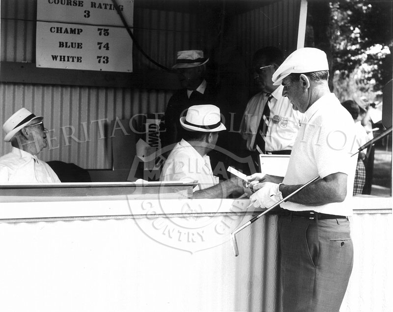 One of the Administration Booths on the grounds of Medinah Country Club during the 63rd Western Open tournament in 1966.