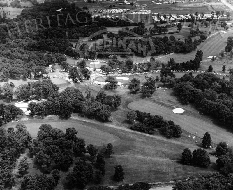 An aerial view captured Medinah Country Club Course No.3 during play at the 59th Western Open in 1962.