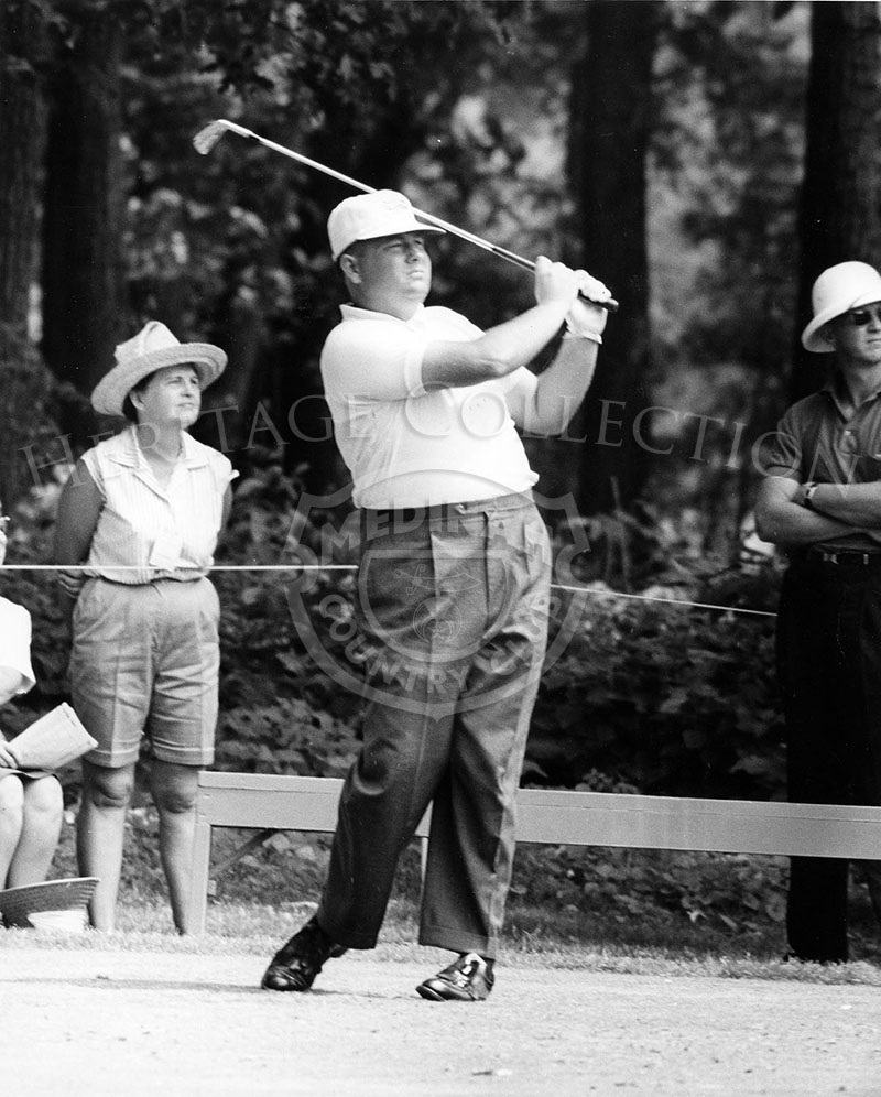 Unidentified golfer in play during the 59th Western Open in 1962.