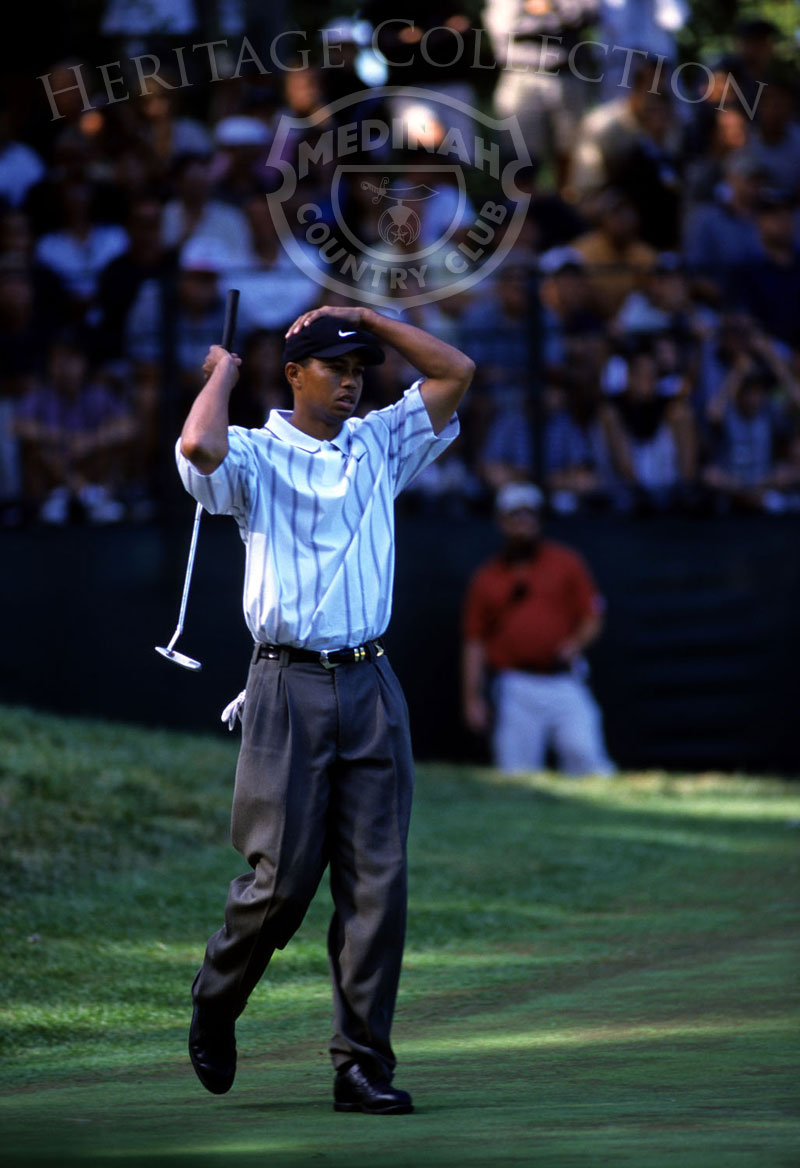 Round 3: Tiger Woods. Photographer: Montana Pritchard