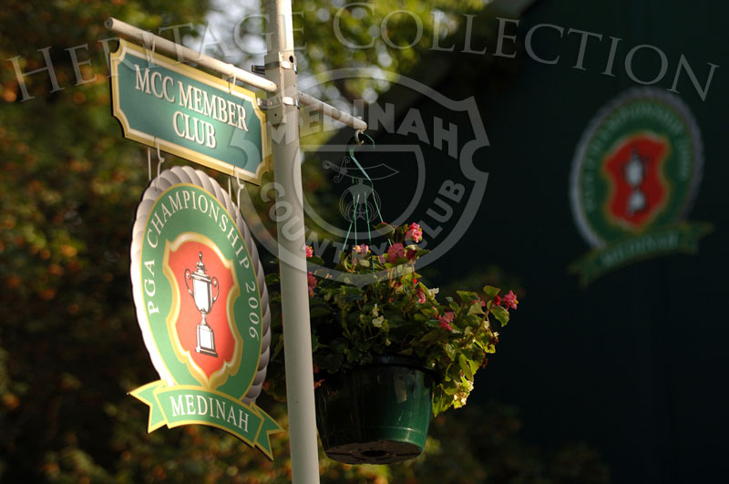 Signage for the 88th PGA Championship in Medinah, Illinois. Thursday, August 17, 2006. Photographer: Montana Pritchard