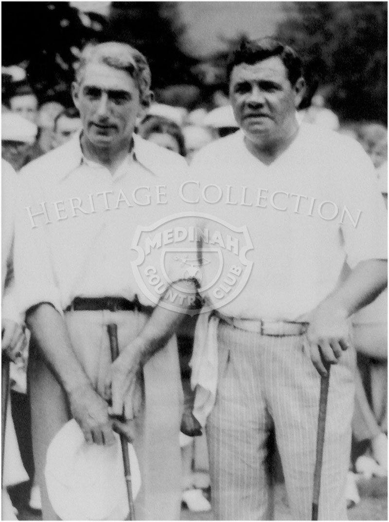 Tommy Armour, Medinah Country Club pro from 1933-1944, is pictured with baseball legend Babe Ruth.