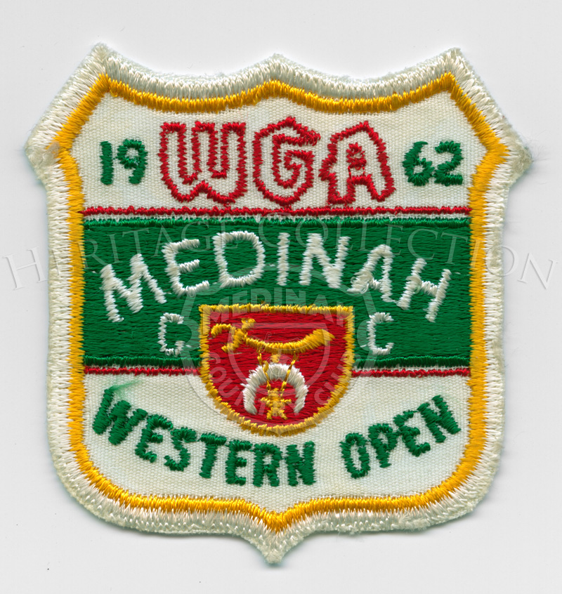 Medinah CC 1962 WGA Western Open patch, embroidered3÷ w x 3÷ h.